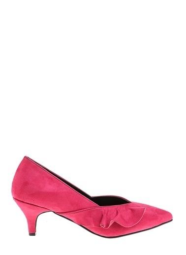 D by Divarese Kısa Topuklu Ayakkabı Fuşya